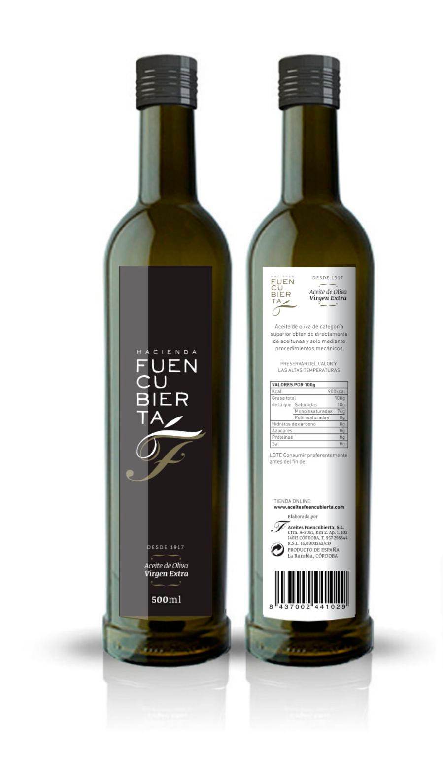Hacienda Fuencubierta-Aceite de oliva Virgen Extra 500 ml